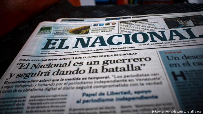 Portada de la última edición impresa de El Nacional.