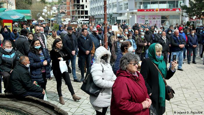 Serbien Aleksandrovac | Proteste gegen Bau eines Steinbruch