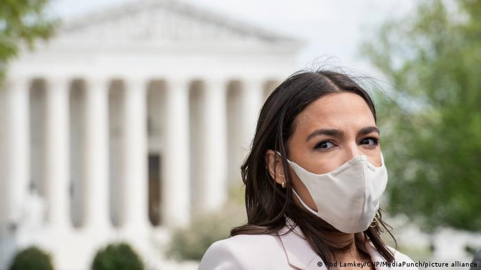 USA Washington | Pressekonferenz: Alexandria Ocasio-Cortez