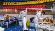 Coronavirus Iran Shiraz Sporthalle