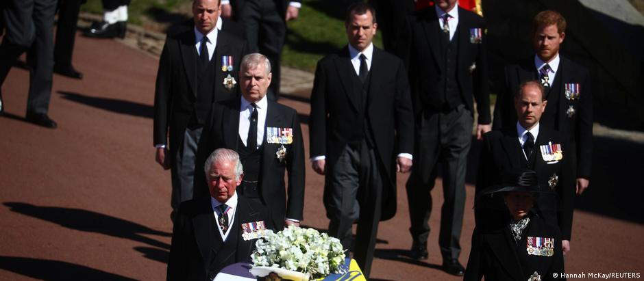 Members of the Royal Family attend Prince Phillip's funeral