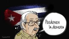 DW Karikatur Vladdo | Castros Abschied