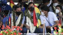 Bolivien Kundgebung der MAS-Partei | Luis Arce, David Choquehuanca und Evo Morales