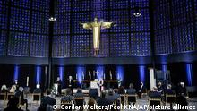 The service at Kaiser Wilhelm Memorial Church