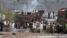 Pakistan Lahore | Protest nach Festnahme von Saad Rivzi