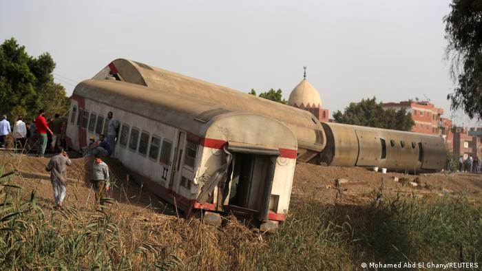 The site of the crash north of Cairo