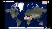 Screenshot Website | Google Earth Timelapse