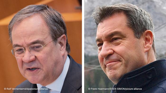 Kombobild Armin Laschet und Markus Söder