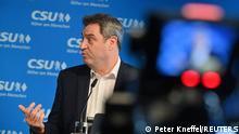 Deutschland PK Markus Söder Kanzlerkandidaten Union