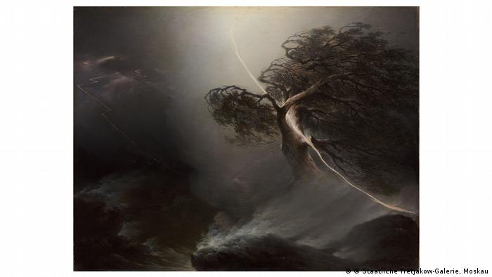 Painting of a tree hit by lightening by Maksim Vorobyov