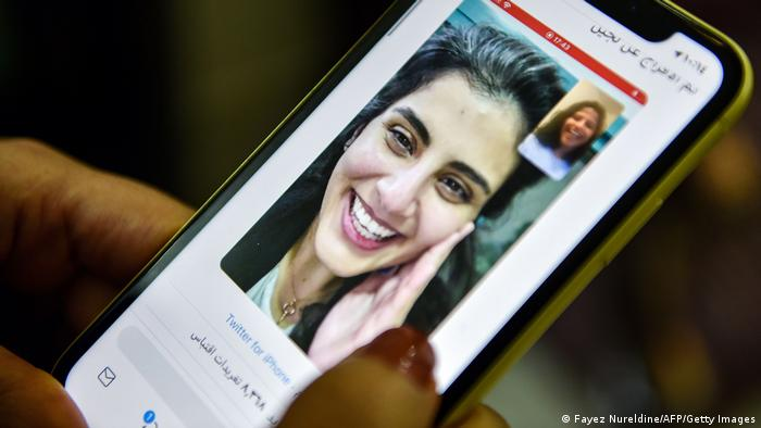 Saudi Arabien Tweed der Schweser der Frauenrechtlerin Lujain Al Hathloul