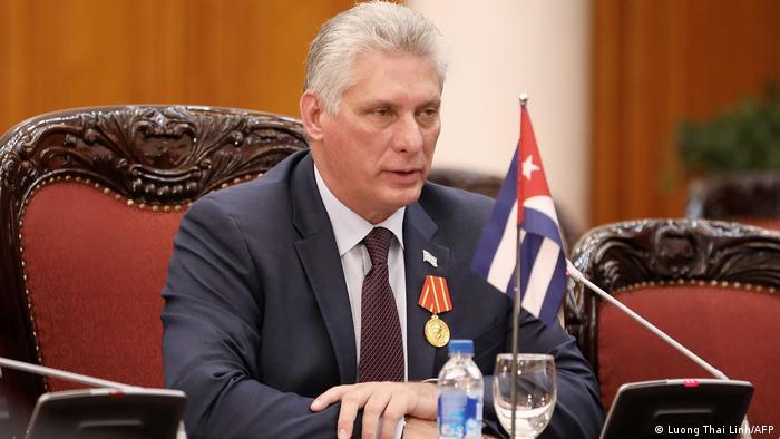 Miguel Díaz-Canel, presidente de Cuba e eleito novo líder do Partido Comunista, em foto de novembro de 2018