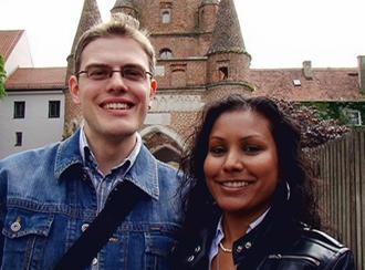 Chrisse Rupnarine mit ihrem Freund Hubert Lindl