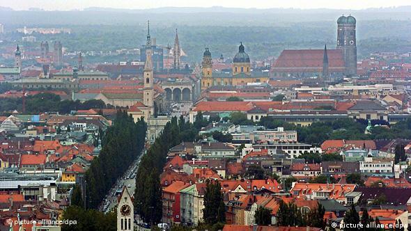 Deutschland Stadt München Panorama Flash-Galerie