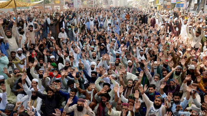 Pakistan Protest Verbot Islamisten Partei Tehrik-e-Labaik