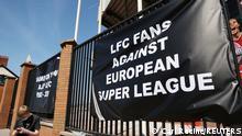 Großbritannien Fußball Super League Reaktionen von Fans