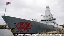 Британский военный корабль Dragon в порту Одессы, 2018 год