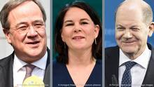 Merkel sonrasını belirleyecek federal seçimlerin başbakan adayları: Armin Laschet, Annalena Baerbock, Olaf Scholz