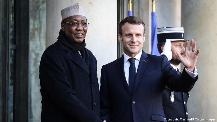 Präsident Idriss Deby und Emmanuel Macron