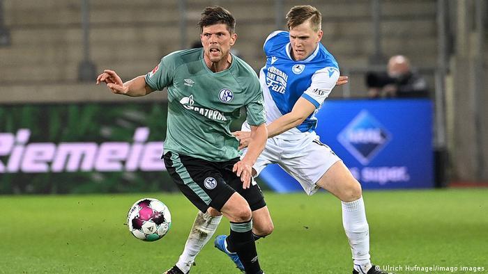 Klaas-Jan Huntelaar on the ball for Schalke