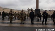 Russland Sankt-Petersburg Protestaktion für Alexej Nawalny