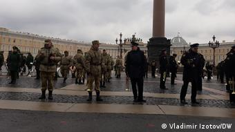 На Дворцовой площади Санкт-Петербурга