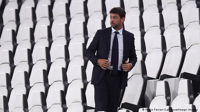 Juventus chairman and founder of the doomed European Super League, AndreaAgnelli