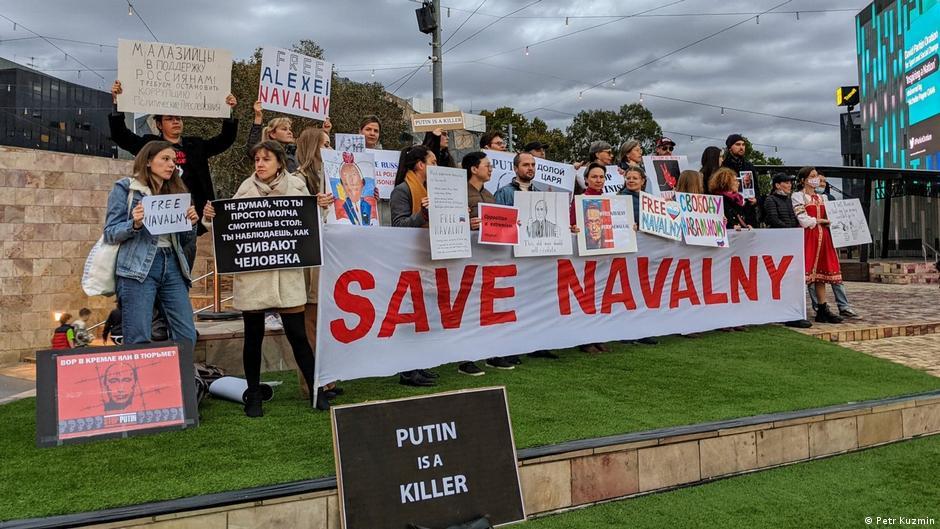 Australien Protestaktion für Alexej Nawalny in Melbourne