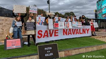 Акция протеста в Мельбурне