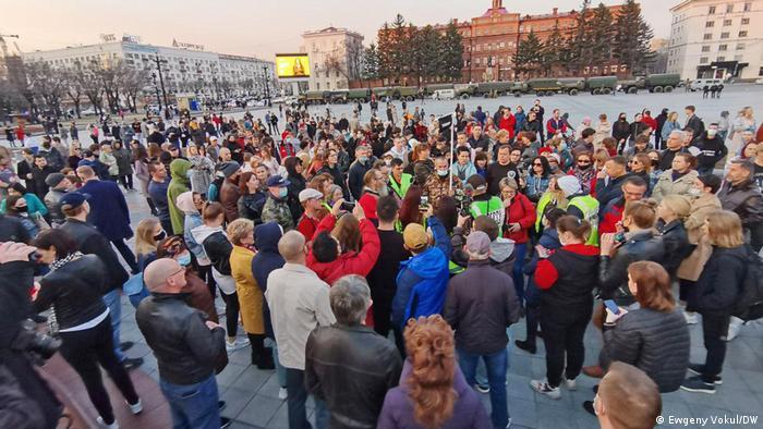 Protest la Habarovsk împotriva întemniţării lui Alexei Navalnîi