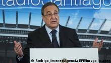 Spanien Präsident von Real Madrid Florentino Perez