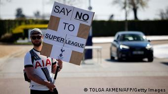 Fußball Tottenham Hotspur Fan Protest