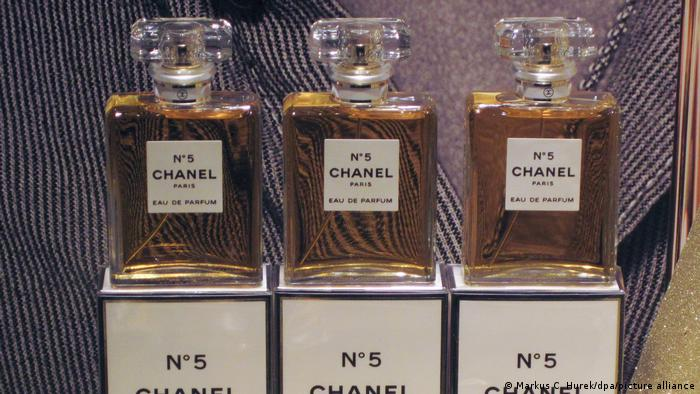 Three bottles of Chanel No. 5.