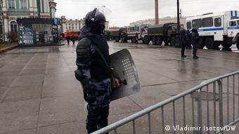 Полиция перекрыла вход на Дворцовую площадь со стороны Адмиралтейства