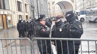 Полицейские в Санкт-Петербурге