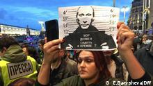Russland Proteste in Moskau zur Unterstützung von Nawalny
