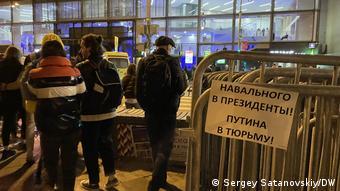 Плакат Навального в президенты Путина в тюрьму! в Москве