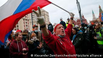 На акции в поддержку Навального в Москве, 21 апреля