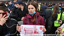 Russland Moskau | Proteste gegen Nawalny-Inhaftierung