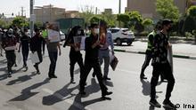 Iran Chaharshanbe-Soori-Feier Polizei in Mashhad