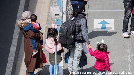 Des réfugiés de Grèce arrivant en Allemagne