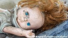 Weißrussland Schmutzige alte Puppe Tschernobyl