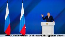 TABLEAU | Russland Moskau | Ostukraine-Konflikt mit Russland |Wladimir Putin, Rede zur Lage der Nation