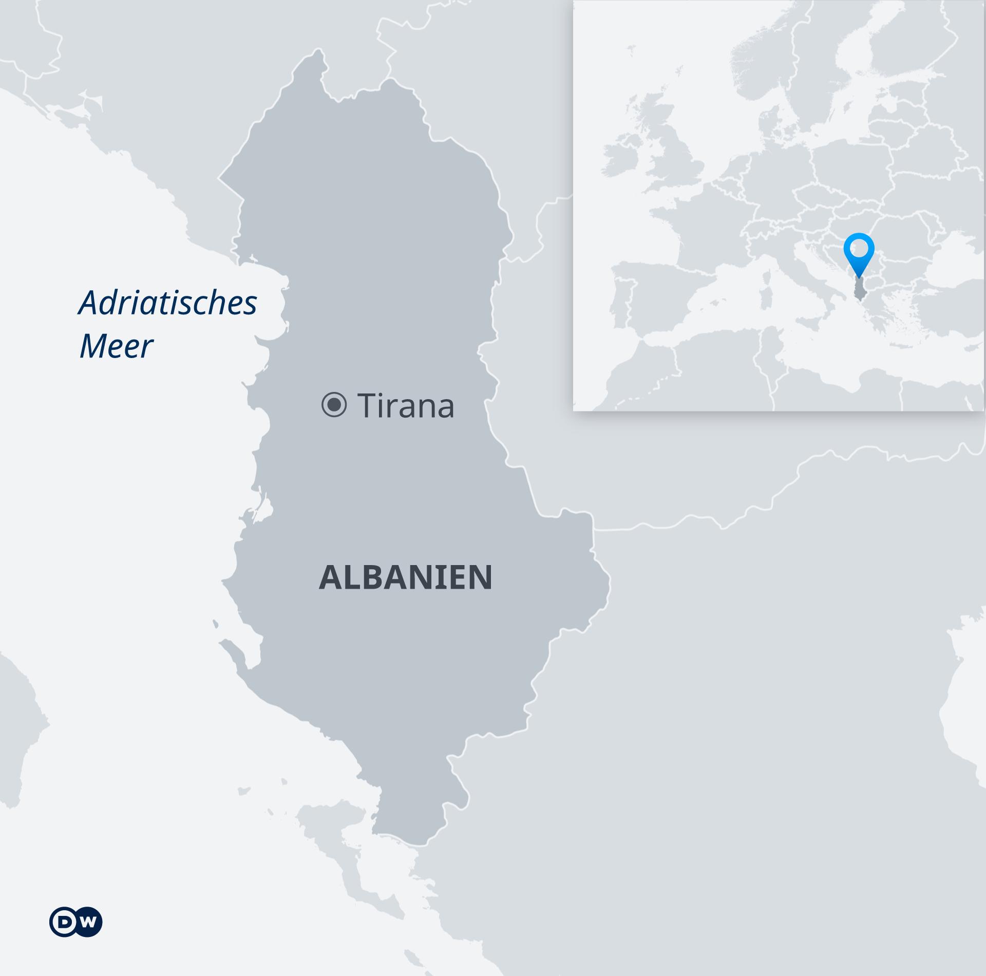 Karte Albanien DE