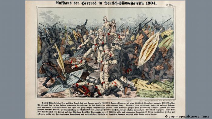 Deutsch-Südwestafrika Holzstich Hereroaufstand 1904/5