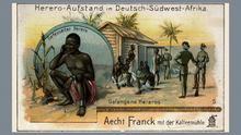 Deutsch-Südwestafrika Zeichnung Hereroaufstand 1904/5