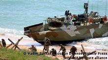Російські військові під час навчань в анексованому Криму, 22 квітня 2021 року
