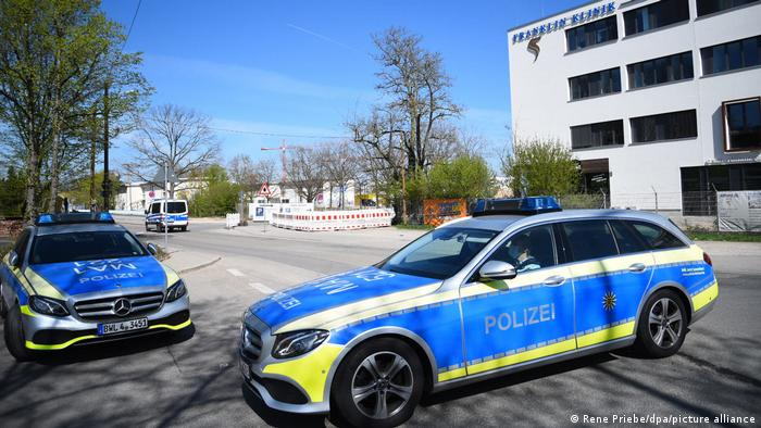 Police cars in Mannheim