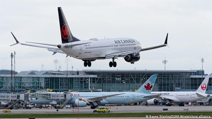 Kanada Flughafen Vancouver Air Canada Boeing 737 MAX 8