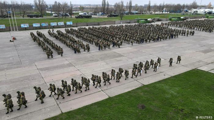 Maniobras militares rusas en puerto de Taganrog, Mar de Azov. (Abril 2021).